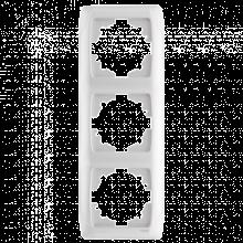 Рамка Viko Carmen 3-постовая вертикальная (Белый)-220i380.by