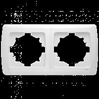 Рамка Viko Carmen 2-постовая горизонтальная (Белый)-220i380.by