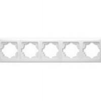Рамка Viko Carmen 5-постовая горизонтальная (Белый)-220i380.by