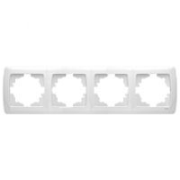 Рамка Viko Carmen 4-постовая горизонтальная (Белый)-220i380.by